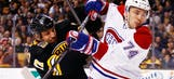 Bruins' Lucic calls Canadiens' Emelin 'chicken' for low hit