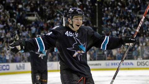 First round, Game 1: Sharks 6, Kings 3