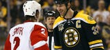 Bruins rout Red Wings, send series to Detroit tied at 1-1