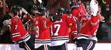 Surprise! Home team wins again; Blackhawks edge Wild for series lead