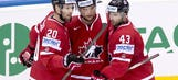 Canada routs Denmark to close group play; U.S. loses again