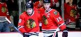 Blackhawks' Kane dresses as candy cane in odd Christmas Yule Log (VIDEO)