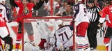 McElhinney injured, Blue Jackets play well in 3-2 loss