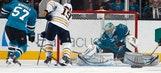 Hodgson, Deslauriers help Sabres beat Sharks 2-1