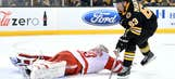 Bruins down Red Wings, strengthen hold on East's final playoff spot