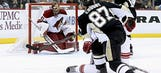 Penguins rally to beat Coyotes; Letang hospitalized after scary hit