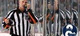One & Done: Referee Dean Morton scored in the only NHL game he played