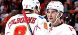 Flames' Colborne, Monahan surprise cancer-stricken fan