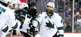 Burns scores twice to power Sharks past Avalanche