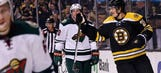 Eriksson's hat trick lifts Bruins over slumping Wild