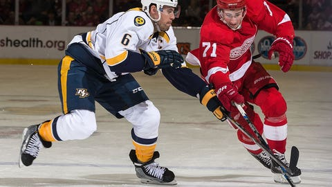Weber's hat trick not enough to clip Red Wings