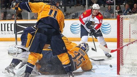 Jagr jolted by Rinne, tweets he's 'old and no good'