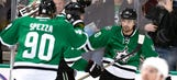 Stars blow four-goal lead, bailed out by Sharp with 19 seconds left