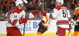 Gostisbehere's goal in OT lifts Flyers over Hurricanes 4-3