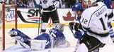 Maple Leafs' Bernier blanks Kings to end drought