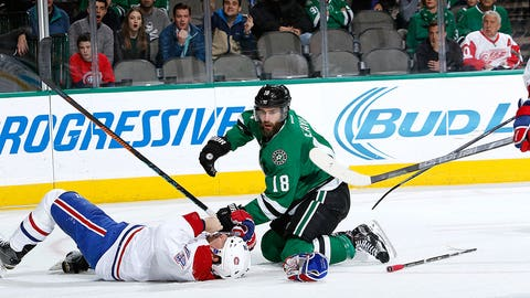 Eaves, Stars have their way with Emelin, Canadiens
