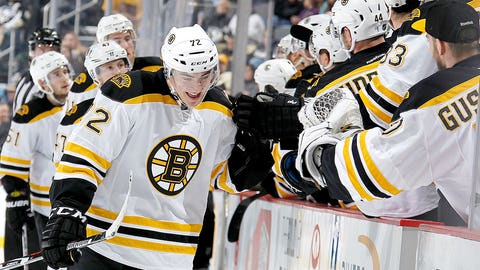 Vatrano's hat trick paces Bruins