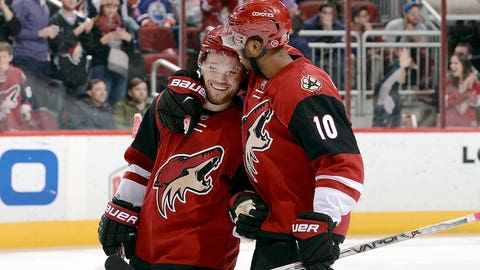 Coyotes' Domi nets hat trick to drill Oilers