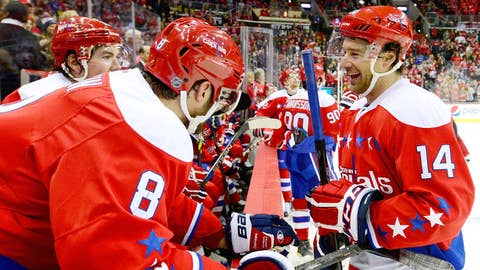 Capitals' Williams records hat trick versus Rangers