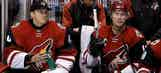 Coyotes goalie gets call-up hour before game while giving twins bath