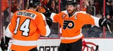 Flyers' Couturier eyes return, Giroux out vs. Hurricanes