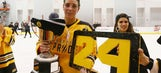 Paralyzed hockey player received the ultimate honor after her team won the title