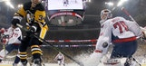 Watch Pittsburgh Penguin Tom Kuhnhackl score a lucky goal off his back