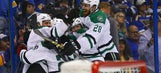 Stars bounce back from blowout loss to edge Blues in OT, tie series