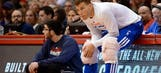 Take a look at the first photo of Blake Griffin's broken hand