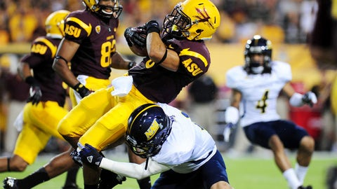 Across the field: Sun Devils RB D.J. Foster