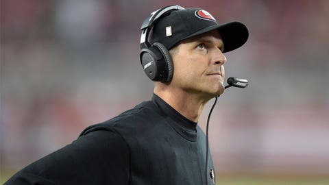 Jim Harbaugh still played quarterback in the NFL