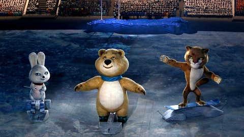 Mascots on ice
