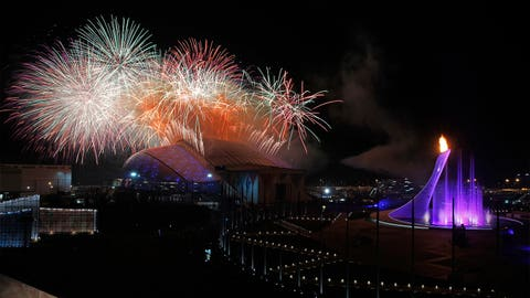 An impressive firework display
