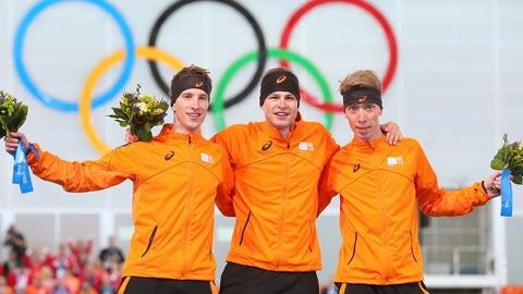 Dutch dominate in 5000m