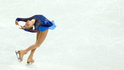 Lipnitskaia during the figure skating team event