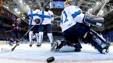 Women's hockey nets its first win