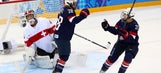 First-period flurry sparks US women in rout of Swiss