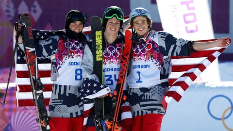 An All-American slopestyle skiing sweep
