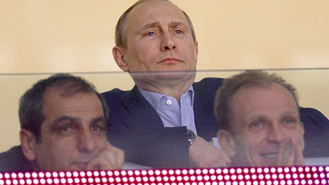 Putin's game face