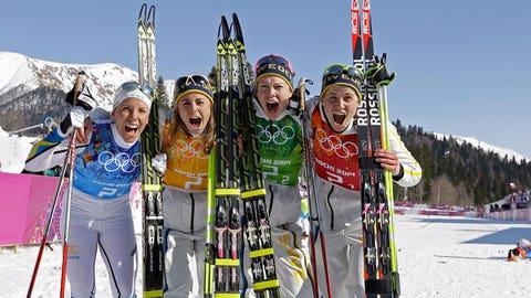 Sweden's women's cross-country relay team