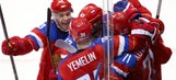Russia staves off hockey elimination, reaches quarters