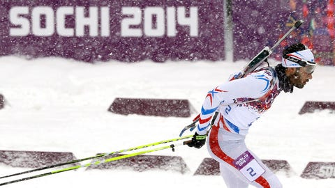 Snow falls on Sochi