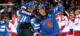 Finland eliminates Russia from medal contention in men's hockey