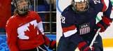 Canada beats USA in OT for women's hockey gold