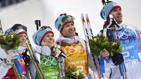 Norway's mix biathlon relay team