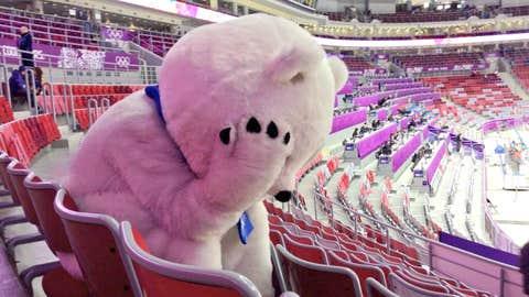 Sad Sochi bear