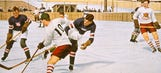 Old school images of USA-Canada Olympic hockey