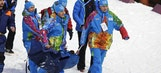 French biathlete hospitalized after collapsing during relay