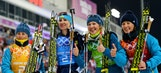 Ukraine wins women's biathlon relay for first gold in Sochi