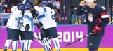 US men lose 5-0 to Finland, fail to medal in hockey